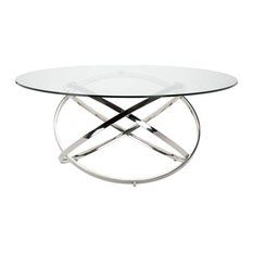 Caleb Dining Table Clear 72-inch