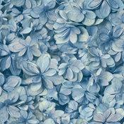 York Wallcoverings On1618 Hydrangea Bloom Wallpaper Blue
