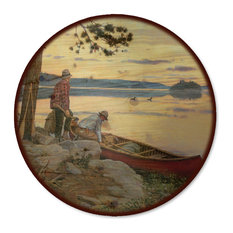 "Lazy Susan, Song of the North, 18"" Diameter"