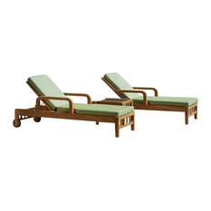 Lodge 3-Piece Sun Lounger and Side Table Set