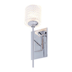 Vanity Art Modern Crystal Cut High Wall Sconce