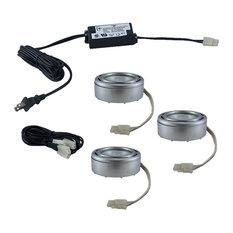Jesco Pk200X3-St (3) 20W 3-Light Halogen Plastic Puck Light Kit