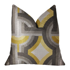 """18/"""" Sizes Gold Lipstick Kiss on Black Square Accent Throw Pillow in 14/"""" 16/"""""""