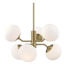 Mitzi Estee 6 Light Chandelier H134806-AGB - Aged Brass