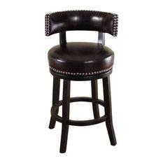 Brilliant Dark Brown Bar Stools Counter Stools Houzz Uwap Interior Chair Design Uwaporg
