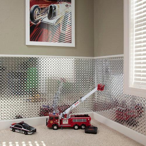 Fasade Diamond Plate Chrome - Home Decor & Fasade Wall Panels