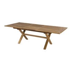 Teak Extendable Rectangular Garden Dining Table