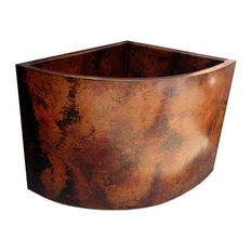 Esquina Copper Japanese Soaking Tub by SoLuna, Cafe Natural, Bench Seat