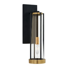 Calix Bracketed Sconce, Bronze and Brass