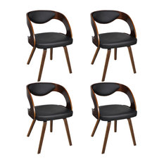 vidaXL Dining Chairs With Padded Bentwood Backrest, Set of 4