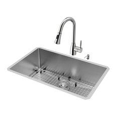 30 inch kitchen sink undermount vigo industries allinone 30inch stainless steel undermount kitchen 30 inch sinks houzz