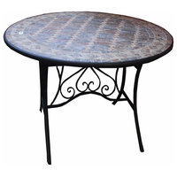 Round Mosaic Table, Multicolor