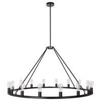 "Sonoro 50"" Vertical Light Industrial Round Chandelier"