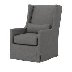 Kensington Swivel Wing Chair, Finn Charcoal