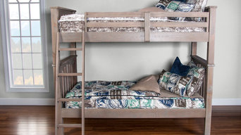 Zippered Bedding for One Bunk Bed - Two Twin Mattresses