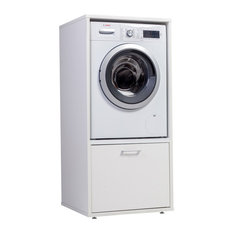 White Washer and Dryer Cabinet, Without Pull-out Shelf