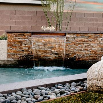 Water + Fire Feature Garden