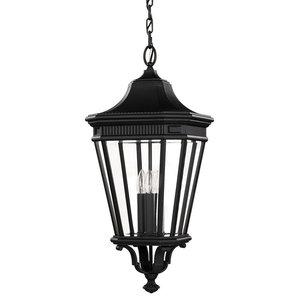 Cotswold Lane Chain Lantern, Black, Large