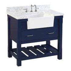 50 Most Popular Blue Bathroom Vanities For 2019 | Houzz