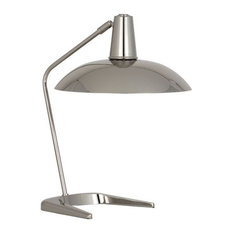 Robert Abbey Enterprise Desk Lamp, Polished Nickel