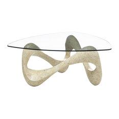Tetris Glass Coffee Table, Sand