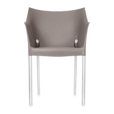 Dr. No Chair by Kartell, Set of 2, Warm Gray