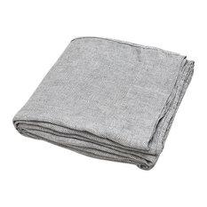 Plum Kitten Stone washed Rhomb Bed Linen Flat Sheet, King