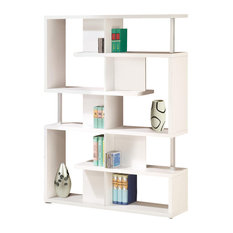 Co Fine Furniture Maze Bookcase With Support Beams White Bookcases