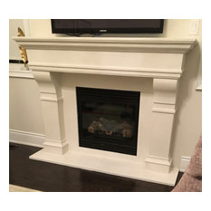 "Annual Sale 30% off Castello 72"" Cast Stone Fireplace Mantel Mantle Surround"