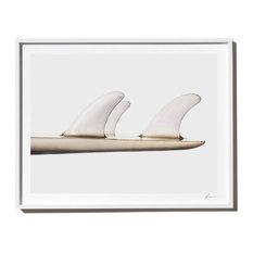 """Thruster"", Surf Art Photograph, White Frame, 27''x35''"