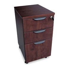 """Valencia Mobile Box/Box/File Pedestal File, 15 7/8""""X20 1/2""""X28 3/4"""" Mahogany"""