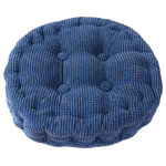 Blancho Bedding - Circle Thicken Cushion Tatami Floor Cushion, Car Pillow, Deep Blue - New Condition. Size: approx. 38 x 38 cm(14.96 x 14.96 inch); Height: 8 cm(3.15 inch) Material: velvet, cotton Soft touch Keep your hip shape and be beneficial for blood circulation Relieve fatigue after sitting for long time