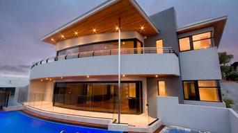 Dovey Residence. Cover frameless glass doors