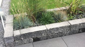 Terrasse mit Bepflanzung