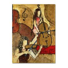 "Joarez 'Two Friends' Canvas Art, 18""x24"""