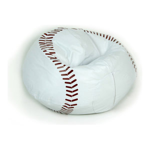 Fine 096 Baseball Matte Bean Bag Contemporary Bean Bag Chairs Ncnpc Chair Design For Home Ncnpcorg