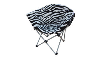 MAOS Large Moon Chair by Mid America Home and Garden, Set of 2, Zebra