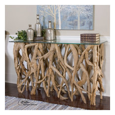 Spectacular Driftwood Console Table