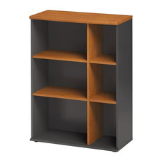 Jazz 4-Shelf Display Cabinet, Alder Finish