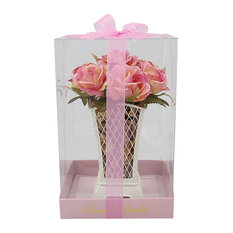 Potpourri, Tin Pot With Pink Roses, Pink