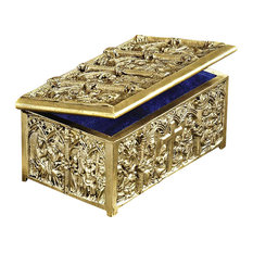 Brass Cathedral Reliquary Box