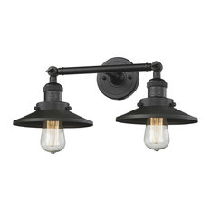 Railroad 2-Light LED Bath Fixture, Matte Black