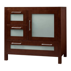 """Ronbow Athena 36"""" Solid Wood Vanity Base Cabinet, Dark Cherry, Right"""