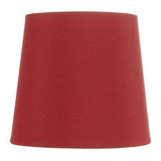 """Crimson Red Shantung 5"""" Clip on Chandelier Lampshade"""