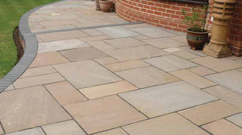 Indian sand stone patio