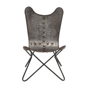 Beautiful and Unique Inspired Style Metal Stitched Chair Home Decor