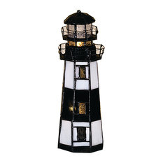 "9.5""x3""x3"" D Montauk Point Lighthouse Accent Lamp"