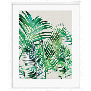 """Palm Leaves"" Framed Print by Summer Thornton, 45x55 cm"