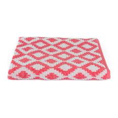 Fibertone Diamond Beach Towel, Coral