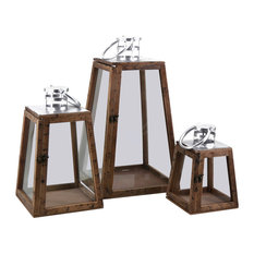 MOYCOR VIC S.L.   Stained Lanterns, Set Of 3   Outdoor Wall Lights